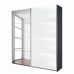 Schwebetürenschrank Weiß Grau : schwebet renschrank quadra spiegel grau metallic glas wei breite x h he 181 x 210 cm ~ Markanthonyermac.com Haus und Dekorationen