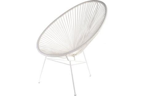 fauteuil la chaise longue blanc acapulco fauteuil et chaise de jardin pas cher