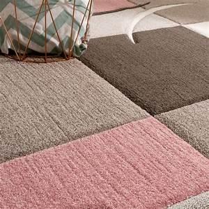 Rosa Grau Teppich : designer teppich modern konturenschnitt pastellfarben mit karo muster beige rosa teppiche ~ Markanthonyermac.com Haus und Dekorationen
