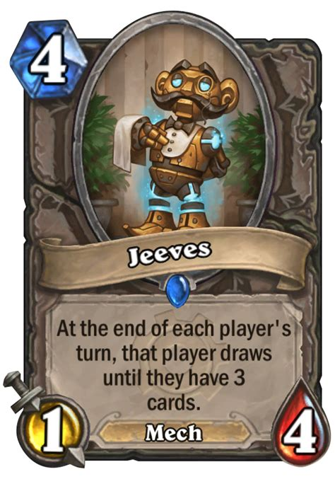 jeeves hearthstone card