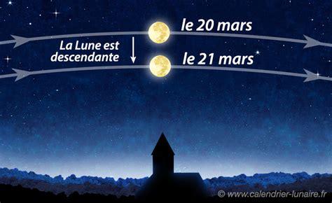lune montante et descendante