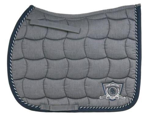 tapis de selle br melange classic gris et bleu dressage sellerie