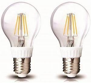Werden Led Lampen Warm : eco led set van 2 led lampen e27 fitting 5w filament warm wit licht dimbaar ~ Markanthonyermac.com Haus und Dekorationen