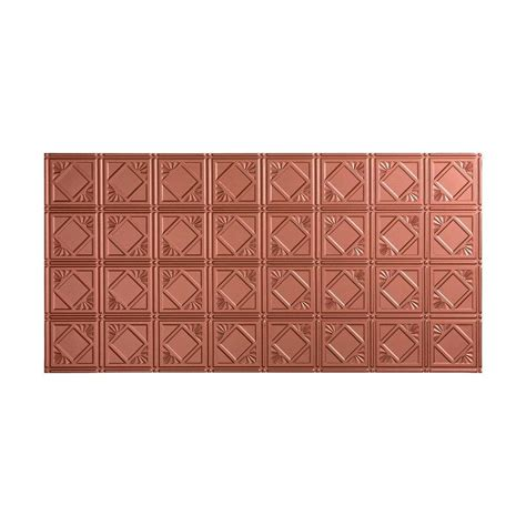fasade traditional 4 2 ft x 4 ft glue up ceiling tile in argent copper g53 10 the home depot