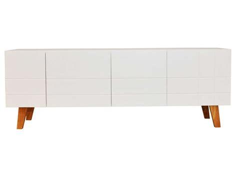 meuble tv 140 cm finition laqu 233 coloris blanc image casa d 233 coration