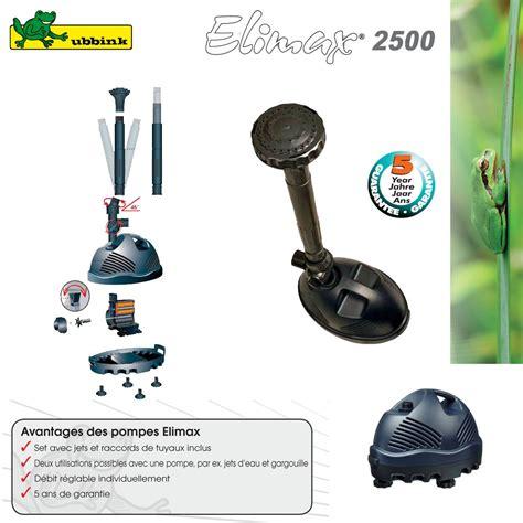 pompe pour bassin ext 233 rieur elimax 2500 1351303 ubbink 8