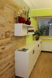Wohnzimmer Eiche Massiv : eiche massiv holz wandverkleidung im wohnzimmer halbe wand bs holzdesign ~ Markanthonyermac.com Haus und Dekorationen