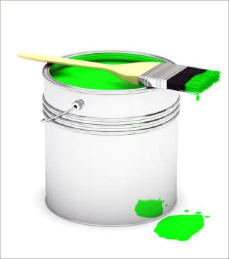 photo un pot de peinture vert illustration