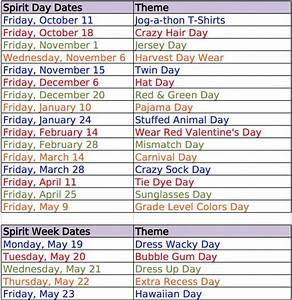 Here are some easy dress up day ideas for Spirit Weeks ...