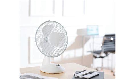 oscillating 9 inch desk fan home garden george at asda