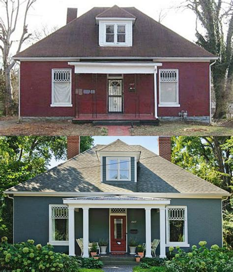 20 Home Exterior Makeover Before And After Ideas