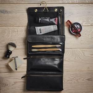 leather hanging wash bag by vida vida | notonthehighstreet.com