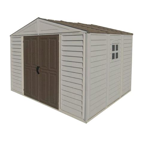 duramax building products 10 ft x 8 ft vinyl storage shed