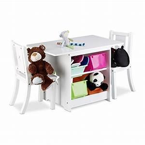 Tisch Und Stühle Für Kinderzimmer : relaxdays kindersitzgruppe albus mit stauraum 1 tisch und 2 st hle aus holz kindertischgruppe ~ Markanthonyermac.com Haus und Dekorationen