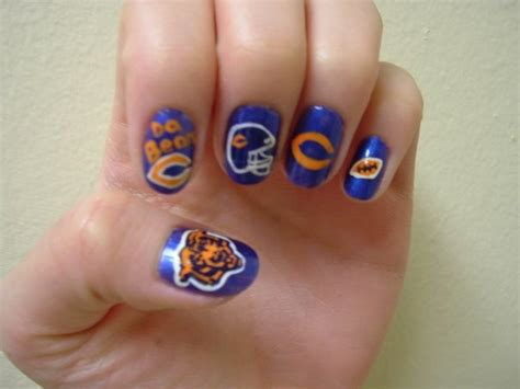 1000+ Ideas About Chicago Bears Nails On Pinterest