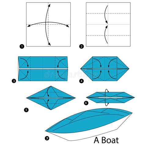How To Make Paper Boat Download by Step By Step Instructions How To Make Origami A Boat