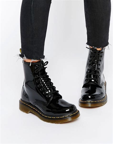 dr martens dr martens modern classics 1460 patent 8 eye boots at asos