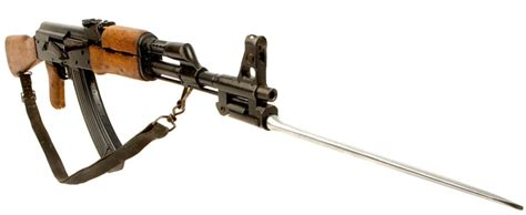 Deactivated Ak47 Assault Rifle With Folding Bayonet (type