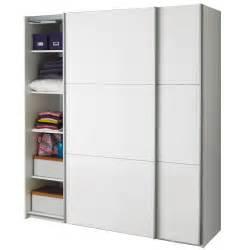 armoire 2 portes coulissantes blanc laqu 233 brillant nuvola les armoires 224 portes coulissantes