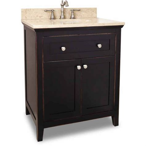 30 inch chatham shaker black bathroom vanity with or without top