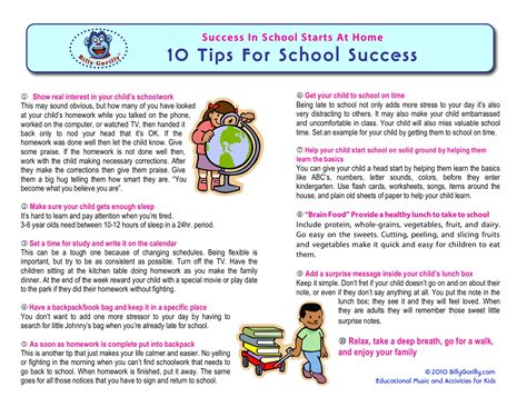 10 Tips For School Success  Sing Laugh Learn