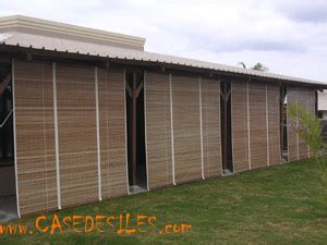 rideaux exterieur en bois