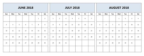 calendar template for june july august 2017 june july and august 2018 calendar june 2018 calendar