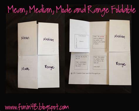 median mode and range foldable freebie in room 4b
