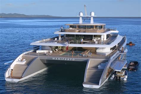 Huge Catamaran Yacht by Manifesto Catamaran Superyacht Muscle Horsepower