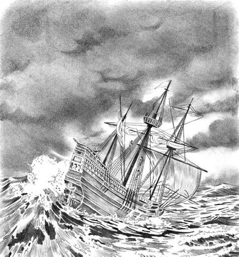 Dibujo Barco En Tormenta by Guerrero Del Arte Tormenta En Altamar