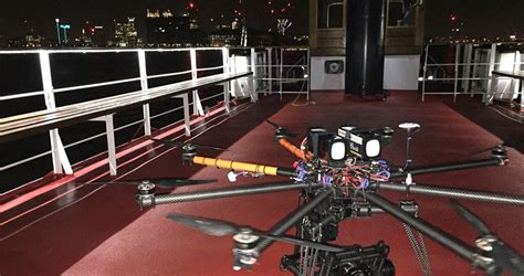 Boat Building Courses London by Drone Filming In The River Thames Skypower