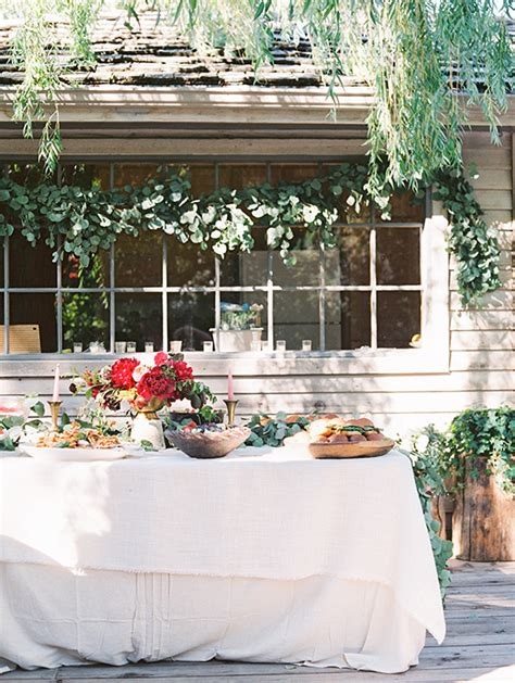 Intimate Outdoor Summer Bridal Shower  Rustic Party 100