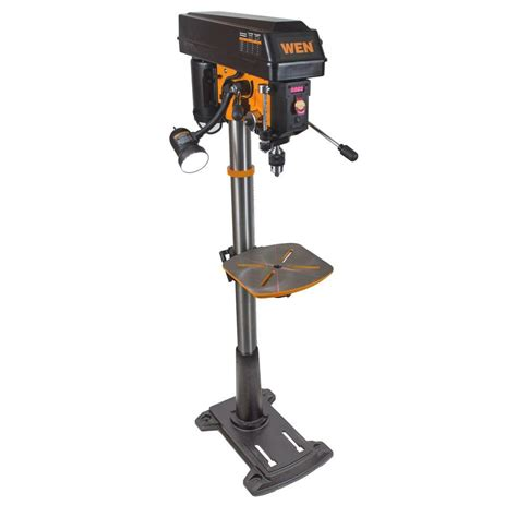 wen 8 6 15 in floor standing drill press with variable speed 4225 the home depot