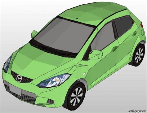 Mazda Demio из бумаги, модели бумажные скачать бесплатно