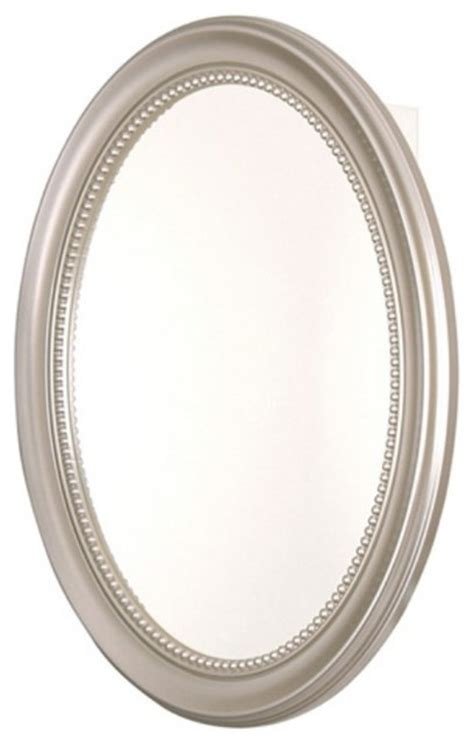 pegasus oval deco 24w x 29h in brushed nickel framed