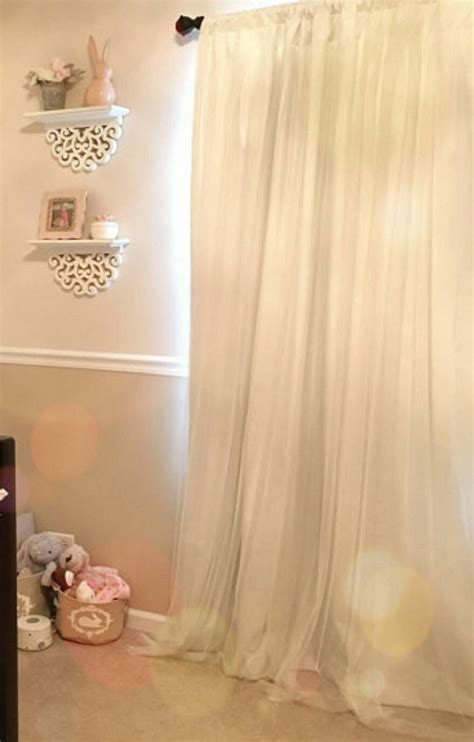 custom blackout one curtain sheer bedroom overlay white panel