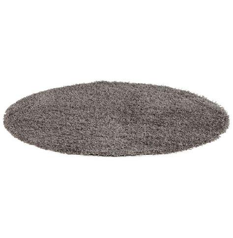 tapis design cava rond 160 cm 192 poils longs gris comparer les prix de tapis design cava rond