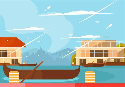 Kerala Boat House Vector kerala boat house vector download free vector art stock