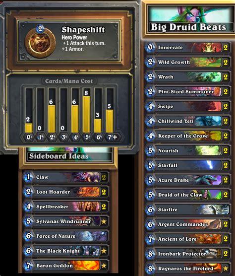 strategy metadeck 1 big druid beats hearthstone