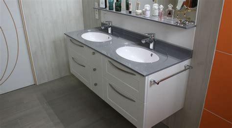 meuble suspendu vasque en solid surface atlantic bain