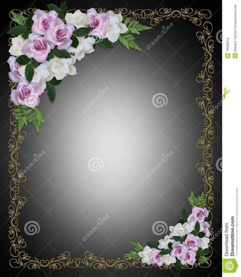 cadre d invitation de mariage sur le noir images stock image 10020074