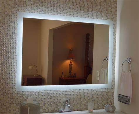 Lighted Bathroom Mirrors Wall by Lighted Vanity Mirror Make Up Wall Mounted Led Bath