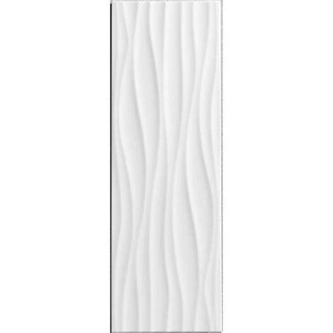 fa 239 ence mur blanc mat d 233 cor relief wave l 25 x l 75 cm papier peint carrelage